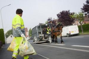 cheval camion poubelles